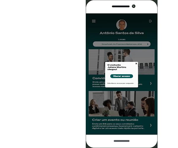 Smartvisit Recepção digital para co-working